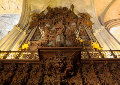 Organo in mogano della Cattedrale di Siviglia