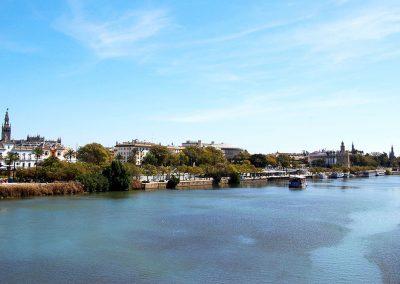 Panoramica dal Ponte di Triana