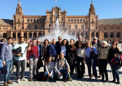 Gruppo alla Plaza de España